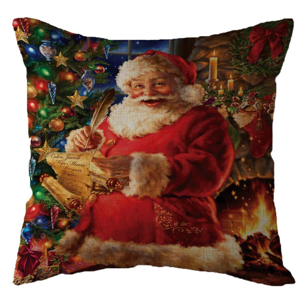 callm Pillow Case Throw Pillows Covers Fashion Merry Christmas Linen Pillowcase Waist Throw Cushion Cover Case Hug Square Pillowcase Home Decor