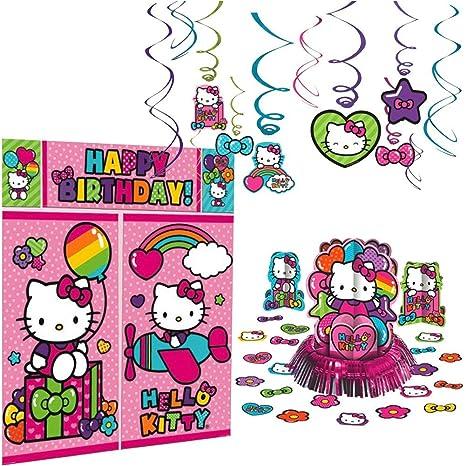 Amazon Com Hello Kitty Rainbow Decorations Birthday Party Supplies