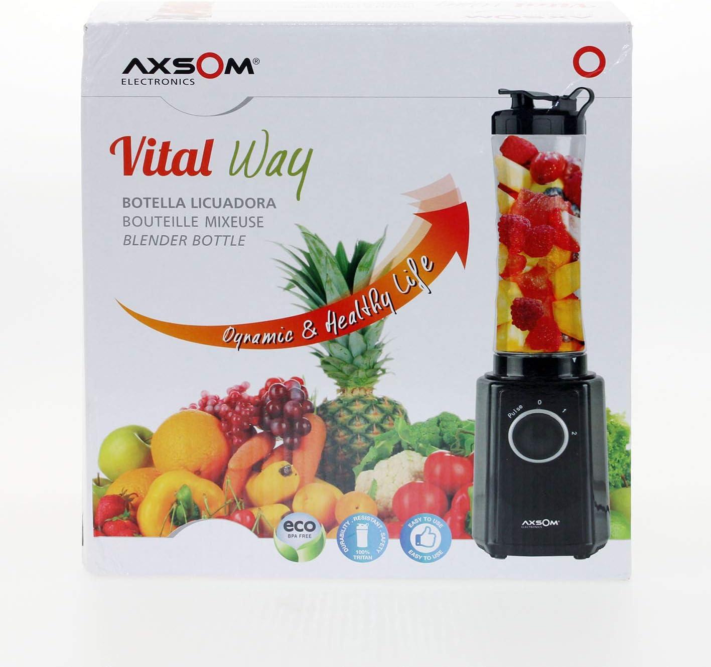 Licuadora de Vaso con Botella portátil Vital Way de Axsom ...