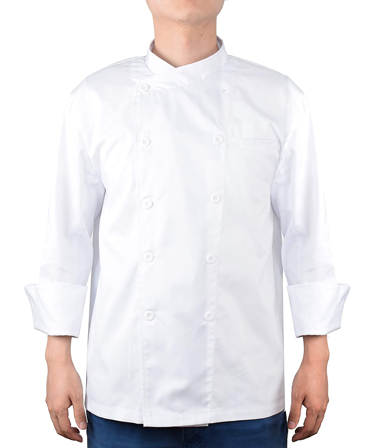 Amazon.com: Nanxson Unisex Chef Jacket Kitchen Hotel Long ...