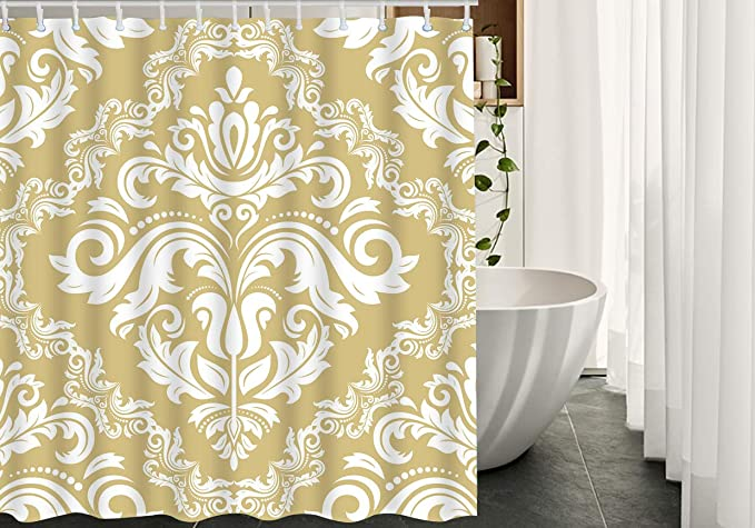 Details about  /Paisley Fish Bohemian Ocean Fabric Shower Curtains Anti-Mildew Assorted Sizes