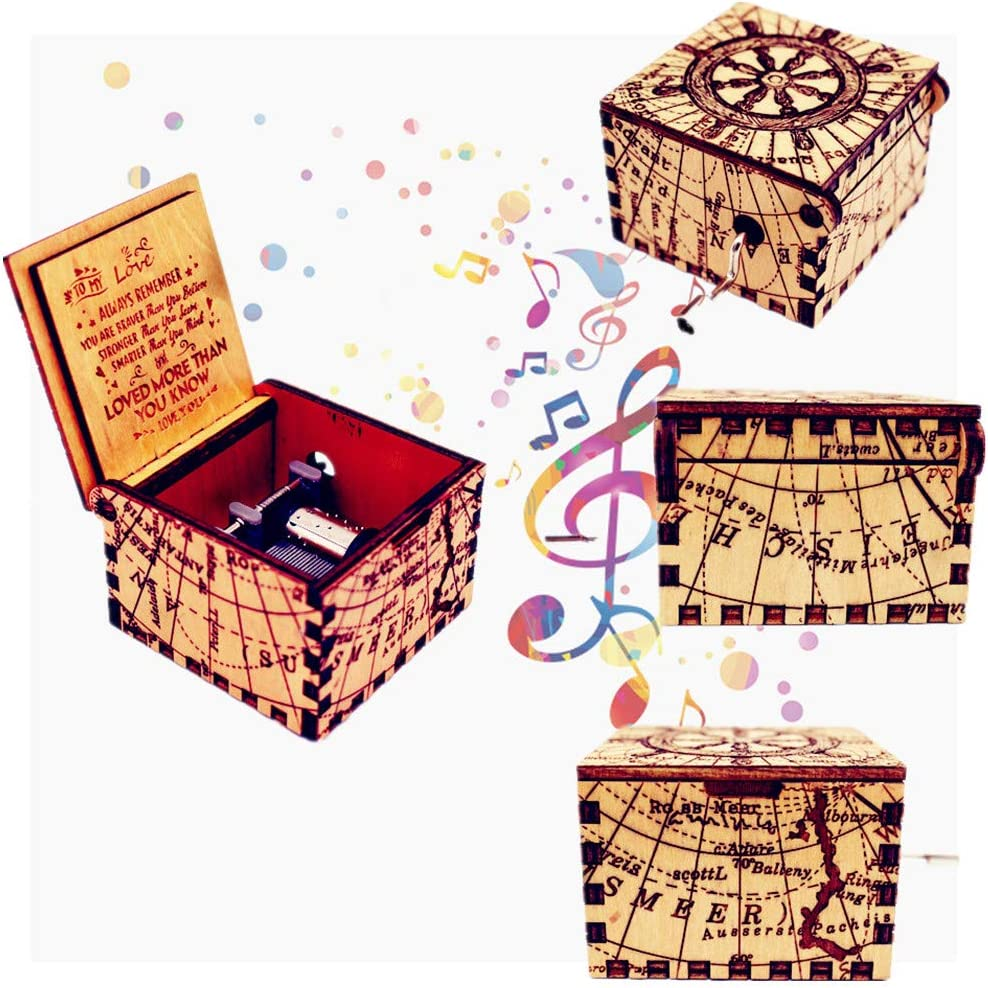 Buy Allamazing caja de m/úsica hecha a mano grabada caja de m/úsica de madera para ventilador regalo de cumplea/ños
