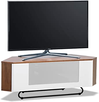 Centurion soporta Hampshire - Mueble de TV con Pantalla Plana de 26 Pulgadas a 50 Pulgadas (Madera de Nogal con Haz de luz Blanca), Color Blanco: Amazon.es: Electrónica