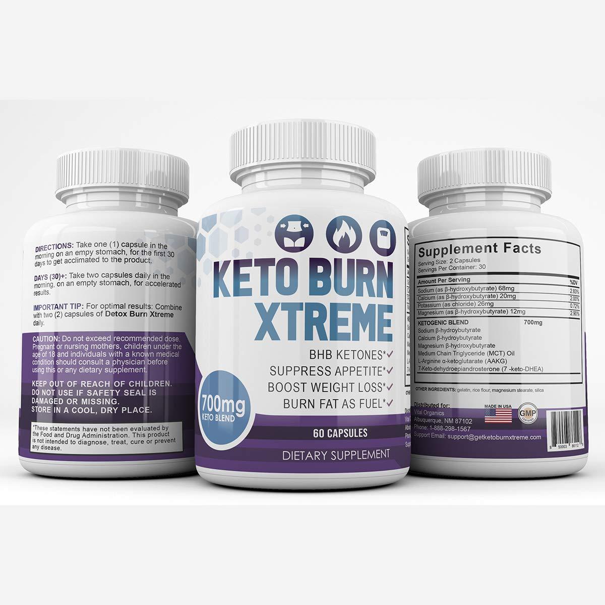 Keto Burn Xtreme - BHB Ketones - Suppress Appetite - Boost Weight Loss - Burn Fat As Fuel - 700mg Keto Blend - 30 Day Supply by Keto Burn Xtreme (Image #7)