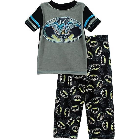 DC Comics - Pijama dos piezas - para niño gris negro Medium