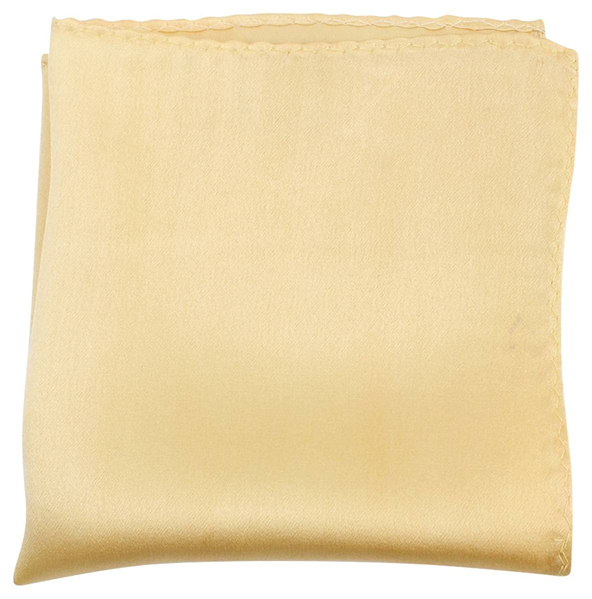 Knightsbridge Neckwear Mens Fine Silk Pocket Square Light Yellow
