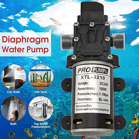 Beverage Filling,etc Diaphragm Pump Ship Chemical Equipment 24V 100W Electric Self Priming Pump High Pressure Water Pump with Pressure Switch for Industrial Equipment