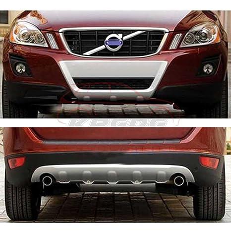Ajuste para Volvo XC60 XC 2008 – 2012 cromado ABS delantero parachoques trasero Junta Skid placa