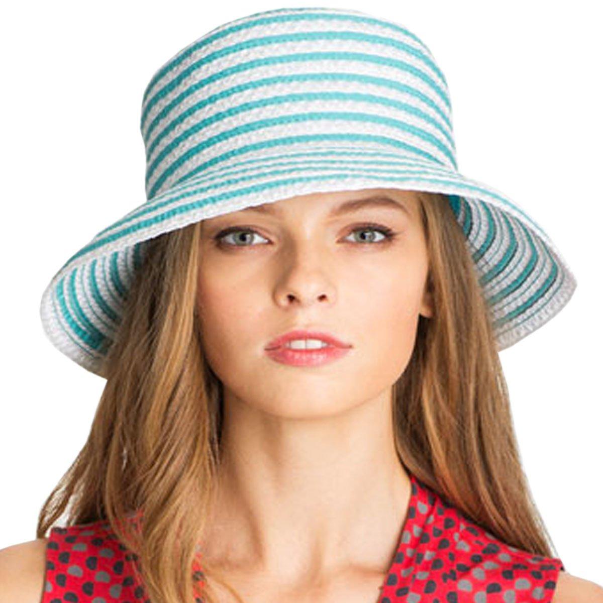 Eric Javits Luxury Fashion Designer Women's Headwear Hat - Braid Dame - Turquoise by Eric Javits