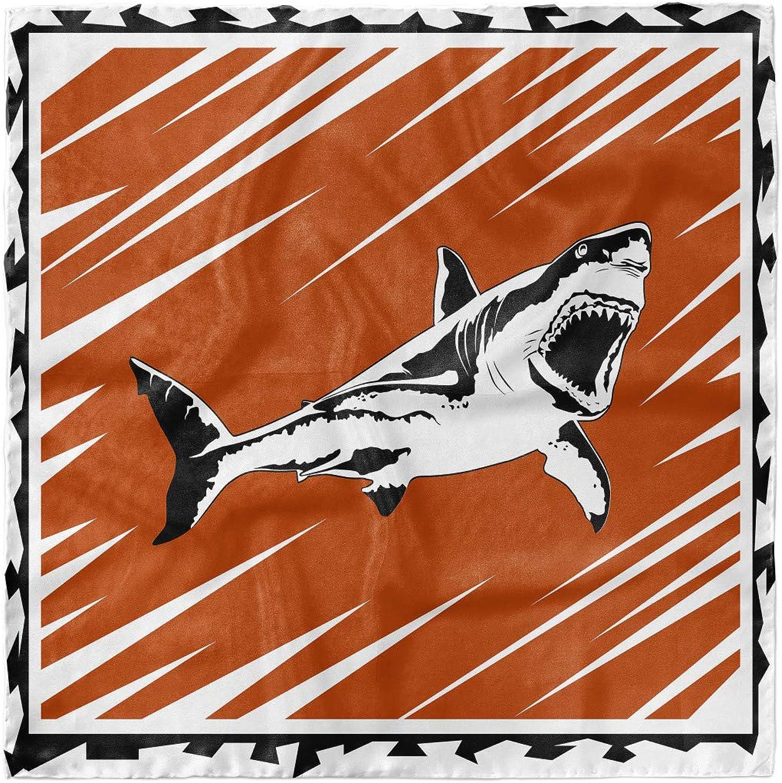 Ambesonne Shark Hairscarf, Killer Ocean Creature, Head Wrap