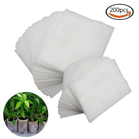 Plantar Bolsas, 200pcs Biodegradable papel Mochilas Bolsas ...