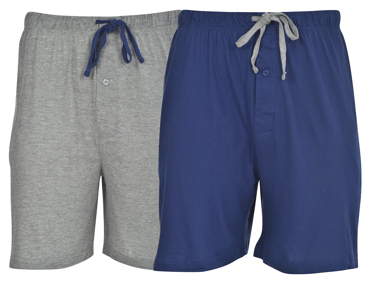 Hanes Men's 2-Pack Knit Short,Blue Depth/Active Grey Heather,Large by Hanes