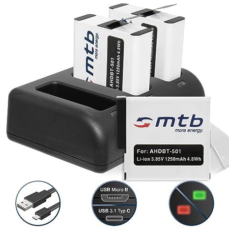3 Baterías (1250mAh) + Cargador Triple (USB) para AABAT-001 ...