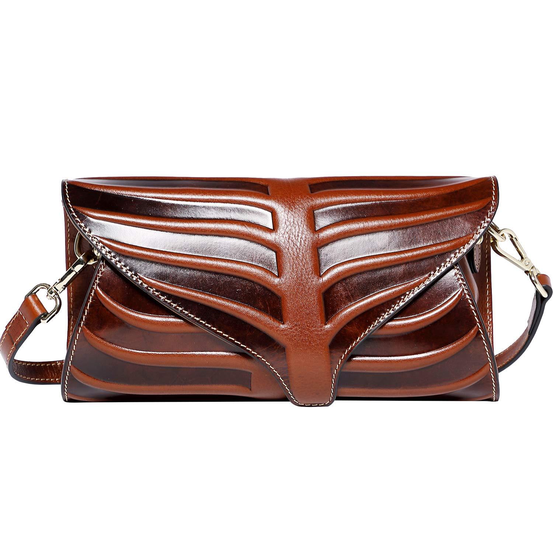PIJUSHI Women Clutch Designer Leaf Purse Leather Crossbody Bags For Women