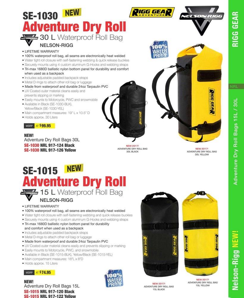 64b9f8fc92 Amazon.com  Nelson-Rigg SE-1015 Dry Roll Waterproof Luggage Bag - 15L -  Black  Automotive