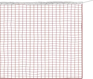 FC Portable Badminton Net with Carry Bag - 610 x 76 cm Replacement Professional Badminton Net for Indoor or Outdoor Sports, Garden, Schoolyard, Backyard, Without Frame (Nylon Braided Mesh in Red)