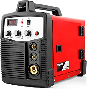 GREENCUT MMG185 - Soldador inverter electrico hilo continuo con gas turbo ventilado, 185A, Potencia Regulable, con Tecnología iGBT Máquina de Soldadora Portátil