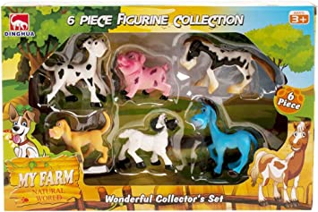 Cosas - Caja 6 Animales Granja Comic, Multicolor (728242): Amazon.es: Juguetes y juegos