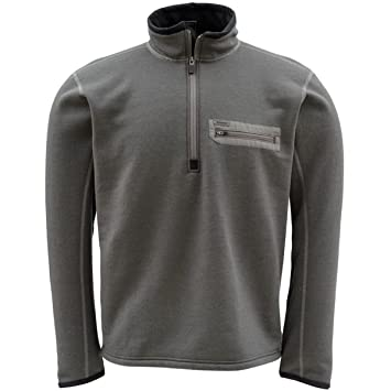 6a0244fa28daa Simms Techwool Montana camiseta térmica DK. Plomo o negro Talla mediano   Amazon.es  Deportes y aire libre