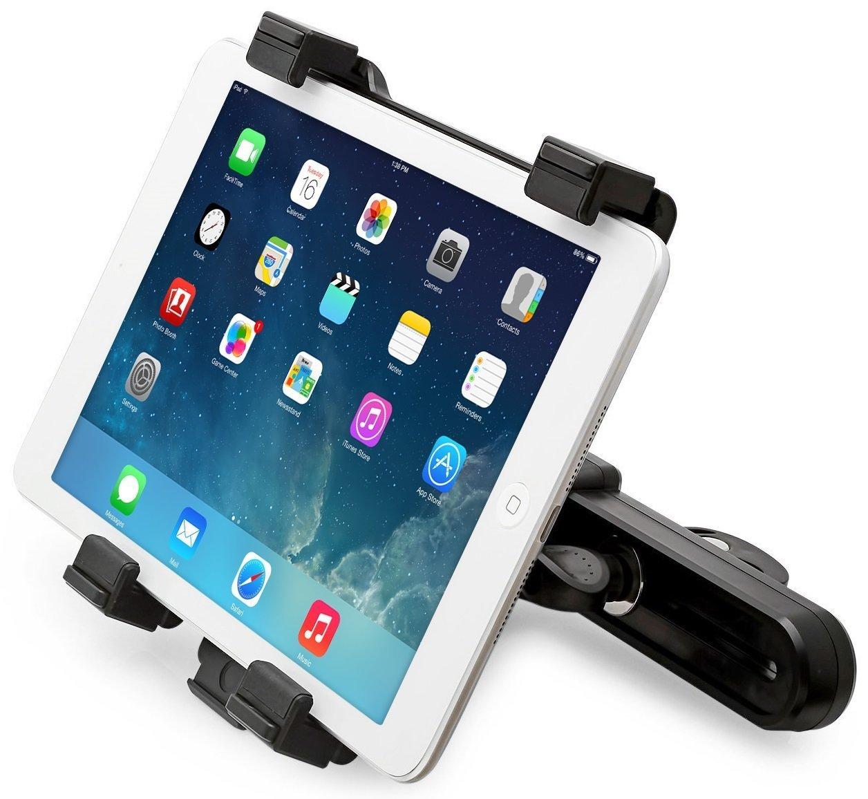 Universal Car Headrest Mount Holder for iPad, iPad Air, iPad Mini, Samsung Galaxy Tab, Kindle fire HDX and 7-10 inch Tablets, 360 Degree Rotation by KonzTec CAK-CHMH01