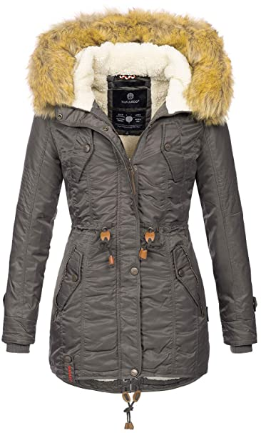 neue Kollektion San Francisco Neuankömmlinge Navahoo warme Damen Winter Jacke Teddyfell Winterjacke Parka Mantel B399