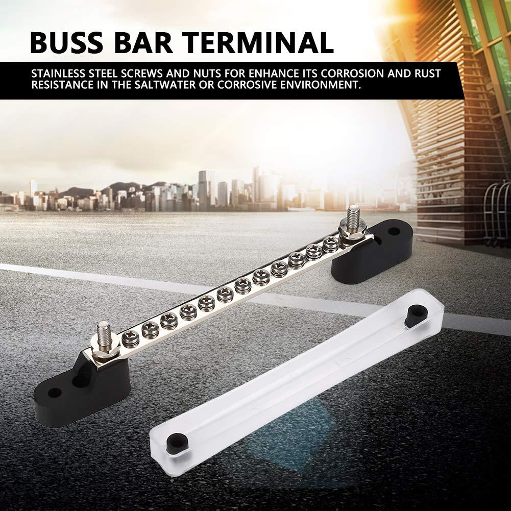 Buss Bar Stud Terminal 12~48 V 100Amp 12 Positions Bus Bar Morsetto di giunzione elettrico