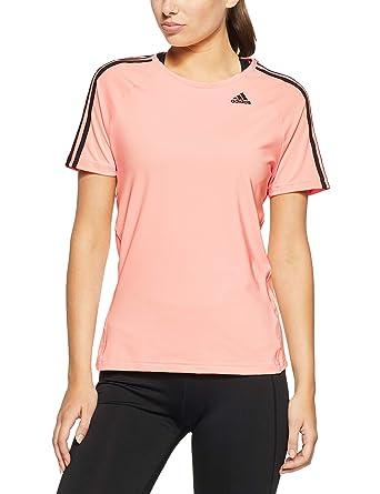 adidas Damen D2m Tee 3 Streifen T Shirt