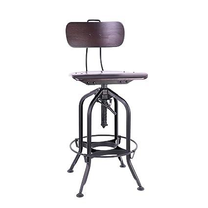 Super Design Lab Mn Ls 9199 Walblk Toledo Walnut Black Adjustable High Back Bar Chair 25 29 Inch Black Andrewgaddart Wooden Chair Designs For Living Room Andrewgaddartcom