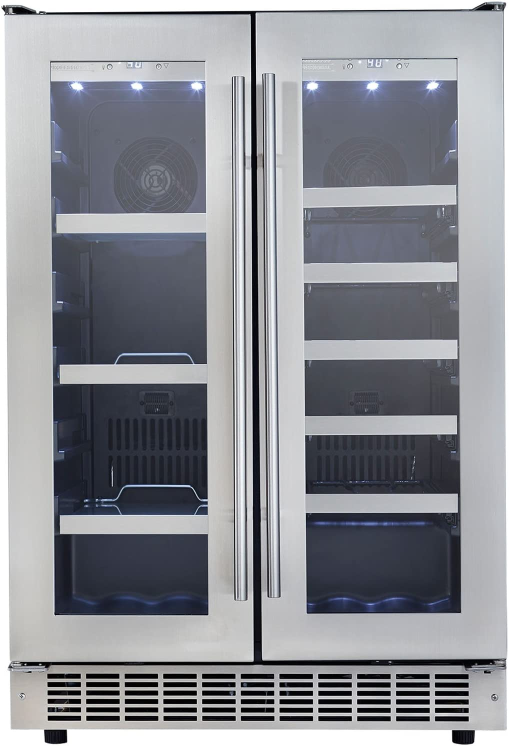 Danby DBC047D1BSSPR Silhouette Built-In Beverage Center, 4.7 Cubic Feet, Black/Stainless Steel/Glass
