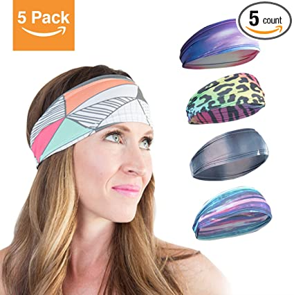 5-pack  Workout   Running Headbands For Women. Power Through Your Workouts d8db980a8aa