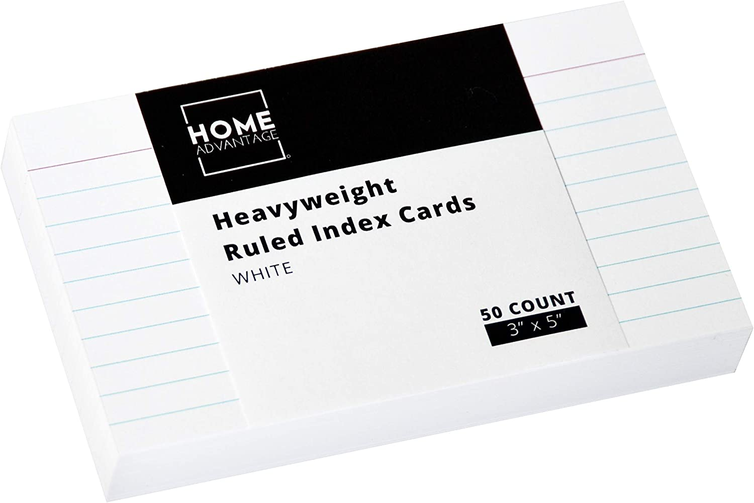 Home Advantage Ruled White Index Cards, File Note Cards (3-x-5-inch)