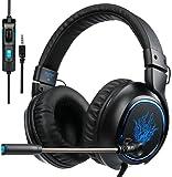 Cascos Gaming con Micrófono, Sades R5 2018 Auriculares Gamer Bajo Profundo de Diadema Cerrados Auricular Reducción de Ruido para PS4 Xbox One PC Mac Tablet Portátil y Otros