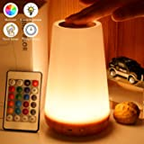 Biilaflor Touch Lamp, Portable Table Sensor Control Bedside Lamps with Quick USB Charging Port, 5 Level Dimmable Warm…