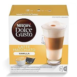 Nescafe Dolce Gusto for Nescafe Dolce Gusto Brewers, Vanilla Latte Macchiato, 16 Count