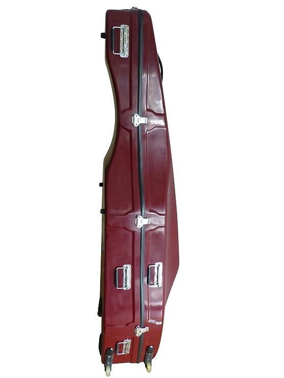 4/4 Contrabajo maletín (Flightcase) en rojo: Amazon.es: Instrumentos musicales