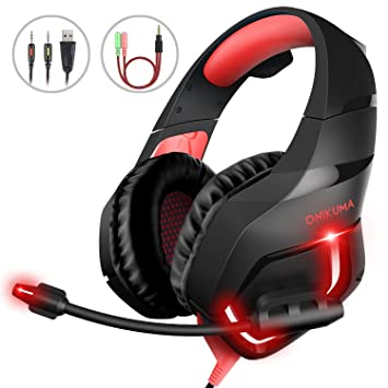 Auriculares para juegos de PC, MillSO K1 Auriculares para juegos Over Ear Gaming para PS4