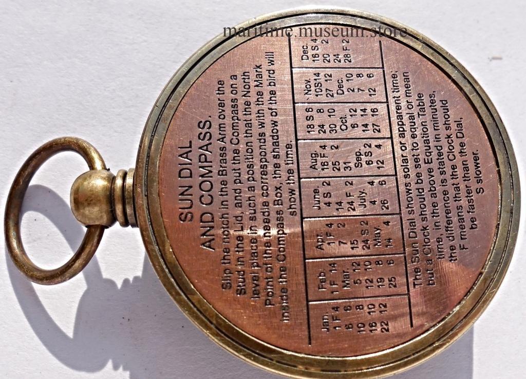 MAH Pocket Brass Sundial Compass, Both Side Work on The Bird. C-3005 by MAH (Image #6)