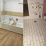 FoLIESEN Fliesenaufkleber für Bad und Küche - 15x15 cm - Weiss glänzend -  50 Fliesensticker für Wandfliesen