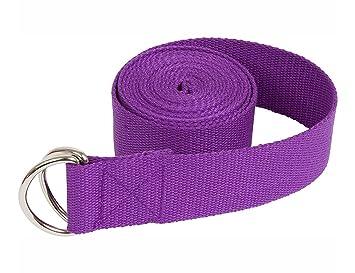 Cinturón de algodón para yoga YPS con hebilla de aro D para ...