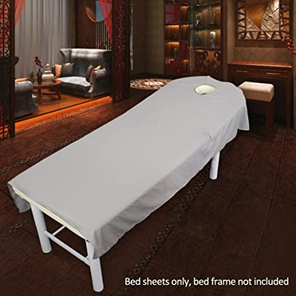 Sabana bajera para camilla de masaje, de UXELY, para tratamientos de belleza y masajes, salón, spa, con agujero, Gray, 80cmx190cm: Amazon.es: Deportes y aire libre