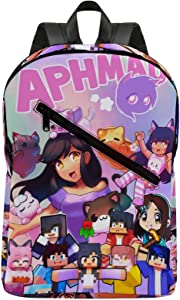 A-Phmau Backpack, Casual Backpack 16.5X11X5.9 IN Adjustable Shoulder Strap Laptop Backpack Lightweight School Bag Motion for Men Women