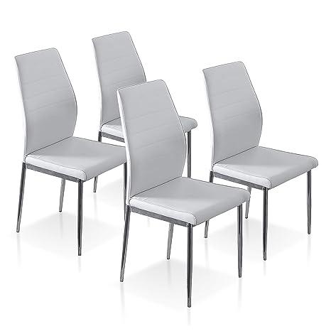 SuenosZzz - Pack sillas (x4) Cloud Color Blanco, para ...