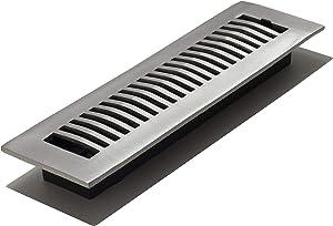 Decor Grates LA212-NKL 2-Inch by 12-Inch Aluminum Floor Register, Nickel