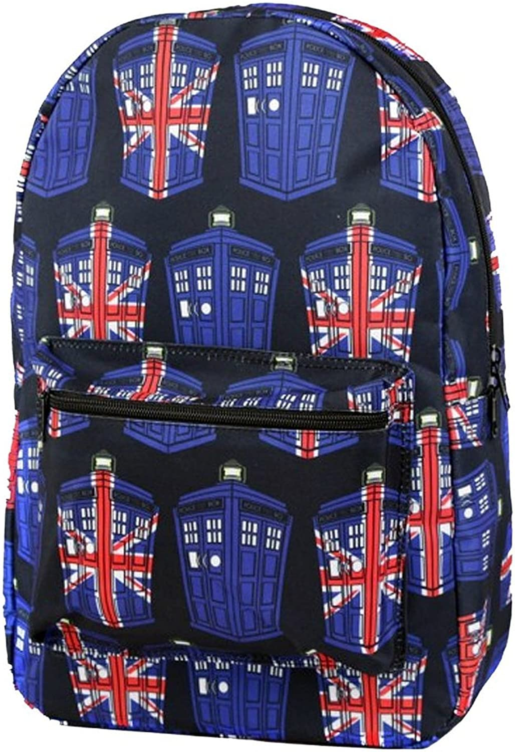 Doctor Who Tardis Union Jack All Over Print Sublimated Backpack