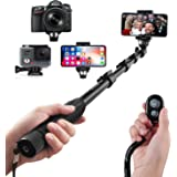 Arespark Selfie Stick, Tripod Wireless Bluetooth Selfie Stick with Extendable Monopod Phone Holder, Extends to 50 Inches