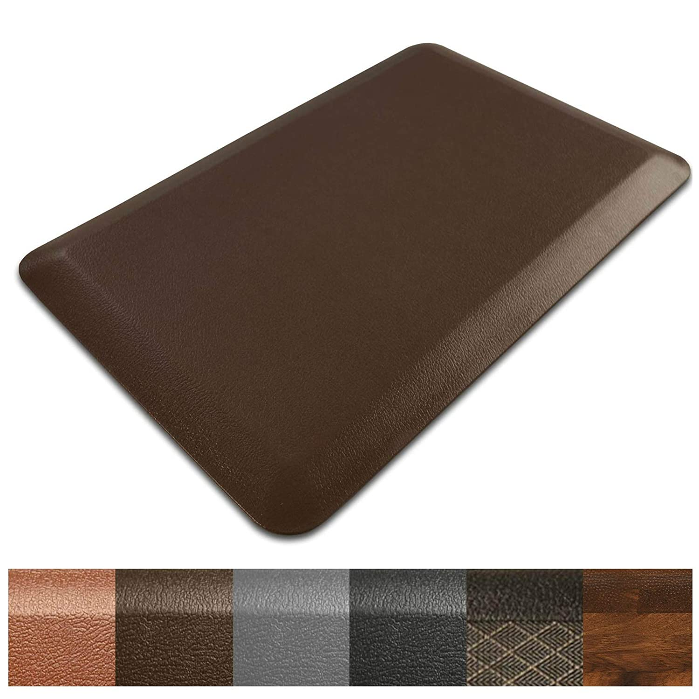 "Kitchen Mat | Anti Fatigue Mat, 3/4 Thick | Ergonomically Engineered, Non-Slip, Waterproof | 20""x30"" - Brown"