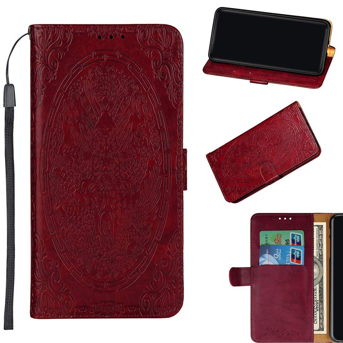 Lyzwn Coque Huawei Honor 7X Housse en Cuir PU Flip Coque Etui Wallet Case avec Support Cartes Slots Fermeture Aimantée pour Huawei Honor 7X Motif