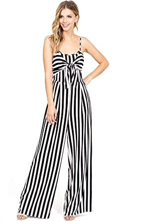 37ba8a2a614b Amazon.com: A Calin by Flying Tomato Women's Nautical Stripe Sleeveless  Jumpsuit: Clothing
