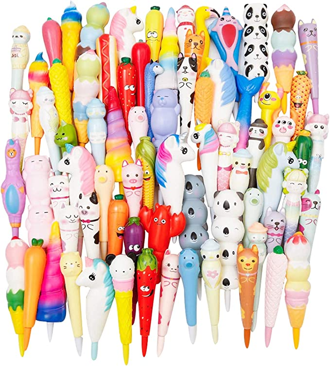 Anboor 3 Pcs Squishies Unicorn Mermaid Panda Pen Grip Kawaii Slow Rising Scen...