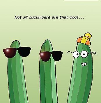 Twizler Carte Humoristique Avec Cool Concombre Carte Vierge